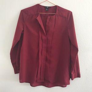 H&M burgundy blouse